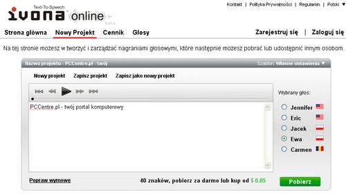 Ivona online